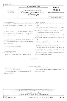 Uszczelnianie rur dławnicami - Końcówki gwintowane do rur aluminiowych BN-62/2214-04