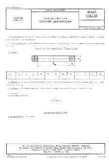 Uszczelnienia dławnicowe - Uszczelki pierścieniowe BN-63/2214-09