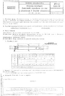 Elementy rurociągów - Końcówki wywijane do rur z aluminium i stopów aluminium dz = 20 ÷ 160 mm BN-63/2216-01