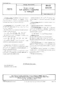 Elementy rurociągów - Łuki spawane z segmentów rur stalowych BN-63/2216-04