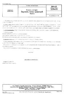 Elementy rurociągów - Segmenty łuków spawanych - Wymiary BN-63/2216-05