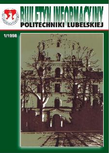 Biuletyn informacyjny Politechniki Lubelskiej 1(2)/1998