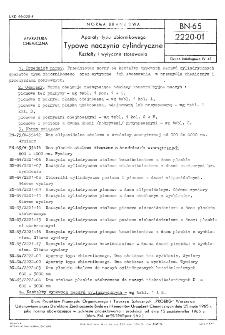 Aparaty typu zbiornikowego - Typowe naczynia cylindryczne - Kształty i wytyczne stosowania BN-65/2220-01