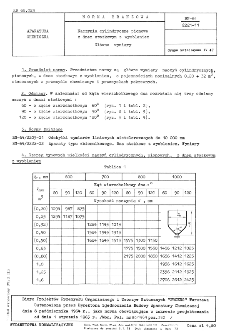 Naczynia cylindryczne pionowe z dnem stożkowym z wyobleniem - Główne wymiary BN-64/2221-11