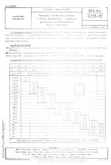 Naczynia cylindryczne pionowe z dnem elipsoidalnym i płaszczem grzewczym nieodejmowalnym - Wytyczne konstrukcyjne BN-65/2221-12