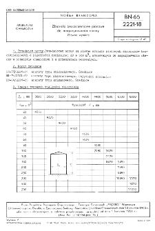 Zbiorniki bezciśnieniowe pionowe do magazynowania cieczy - Główne wymiary BN-65/2221-18