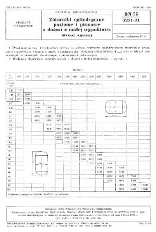 Zbiorniki cylindryczne poziome i pionowe z dnami o małej wypukłości - Główne wymiary BN-75/2221-21