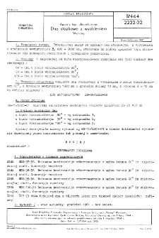 Aparaty typu zbiornikowego - Dna stożkowe z wyobleniem - Wymiary BN-64/2222-02