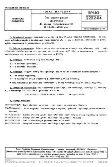 Dna stalowe płaskie użebrowane do naczyń niskociśnieniowych D = 600 ÷ 3000 mm BN-65/2222-04