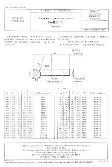 Naczynia wysokociśnieniowe - Podkładki - Wymiary BN-77/2222-07 Arkusz 03