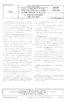 Zbiorniki i aparaty odporne na korozję - Połączenia kołnierzy z szyjką ze stali odpornej na korozję na ciśnienia nominalne 0,8 i 1,0 MPa BN-78/2222-20