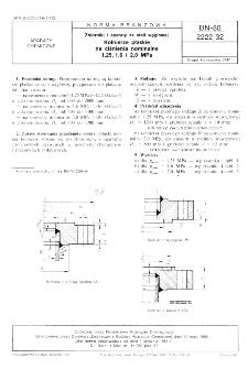 Zbiorniki i aparaty ze stali węglowej - Kołnierze płaskie na ciśnienie nominalne 1,25, i 2,0 MPa BN-80/2222-32
