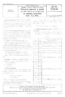 Zbiorniki i aparaty zodporne na korozję - Kołnierze spawane, z szyjką ze stali odpornej na korozję, na ciśnienia nominalne 0,16 i 0,3 MPa BN-79/2222-41