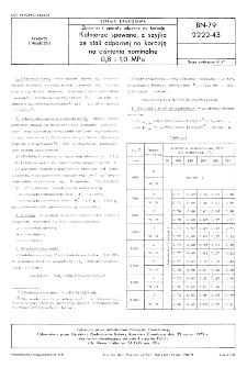 Zbiorniki i aparaty odporne na korozję - Kołnierze spawane, z szyjką ze stali odpornej na korozję na ciśnienia nominalne 0,8 i 1,0 MPa BN-79/2222-43