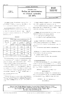 Zbiorniki kuliste - Króćce ze wzmocnieniem na ciśnienie nominalne 2,5 MPa BN-81/2222-52