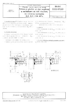 Zbiorniki i aparaty odporne na korozję - Kołnierze płaskie ze stali węglowej z nakładkami ze stali stopowej na ciśnienia nominalne 0,4, 0,5 i 0,6 MPa BN-84/2222-57/03