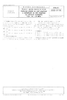 Zbiorniki i aparaty odporne na korozję - Kołnierze płaskie ze stali węglowej z nakładkami ze stali stopowej na ciśnienia nominalne 1,25, 1,6 i 2,0 MPa BN-84/2222-57/05