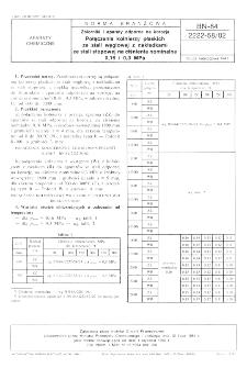 Zbiorniki i aparaty odporne na korozję - Połączenia kołnierzy płaskich ze stali węglowej z nakładkami ze stali stopowej na ciśnienia nominalne 0,16 i 0,3 MPa BN-84/2222-58/02