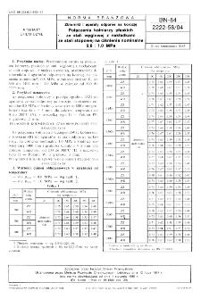Zbiorniki i aparaty odporne na korozję - Połączenia kołnierzy płaskich ze stali węglowej z nakładkami ze stali stopowej na ciśnienia nominalne 0,8 ÷1,0 MPa BN-84/2222-58/04