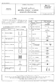 Symbole graficzne aparatów, maszyn i urządzeń przemysłu chemicznego BN-72/2200-01