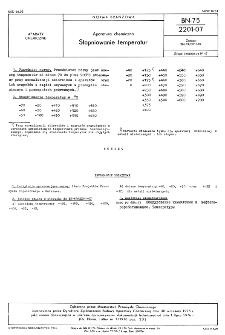 Aparatura chemiczna - Stopniowanie temperatur BN-75/2201-07