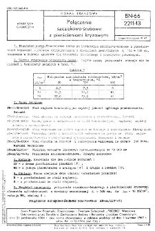 Połączenia szczękowo-śrubowe z pierścieniami kryzowymi BN-66/2211-13