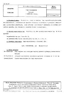 Łapy wspornikowe - Wymiary i wytyczne doboru BN-64/2212-02