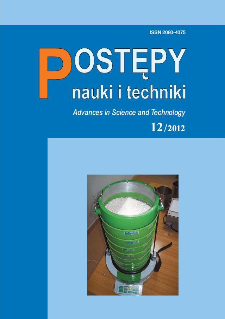Postępy Nauki i Techniki = Advances in Science and Technology 12/2012