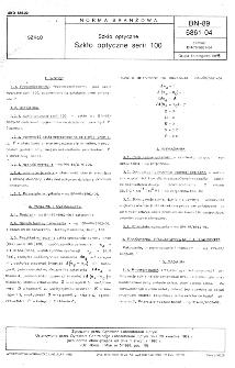 Szkło optyczne - Szkło optyczne serii 100 BN-89/6861-04