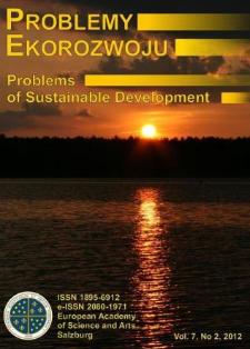 Problemy Ekorozwoju : studia filozoficzno-sozologiczne Vol. 7, Nr 2, 2012