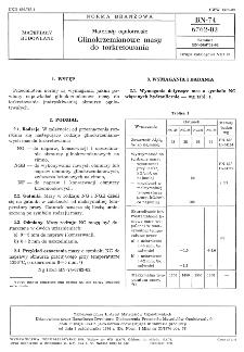Materiały ogniotrwałe - Glinokrzemianowe masy do torkretowania BN-74/6762-02