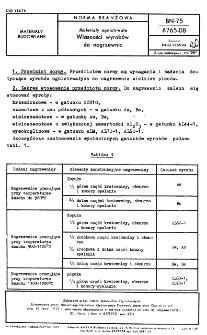 Materiały ogniotrwałe - Własności wyrobów do nagrzewnic BN-75/6765-08