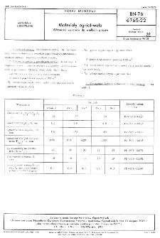 Materiały ogniotrwałe - Własności wyrobów do wielkich pieców BN-76/6765-22