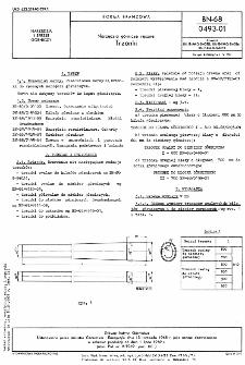 Narzędzia górnicze ręczne - Trzonki BN-68/0493-01