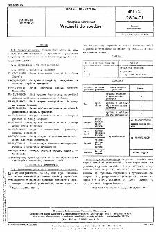 Narzędzia obuwnicze - Wycinaki do spodów BN-72/2804-01