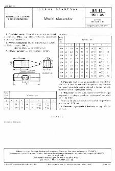 Młotki ślusarskie BN-87/4511-08