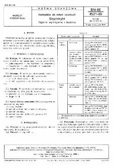 Narzędzia do robót ręcznych - Scyzoryki - Ogólne wymagania i badania BN-85/4521-09