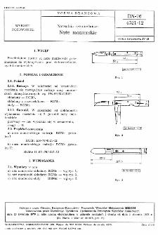 Narzędzia rzemieślnicze - Noże monterskie BN-76/4521-12