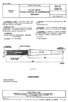Narzędzia jubilerskie - Trzpień stożkowy do kształtowania pierścieni BN-70/4580-19