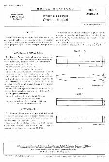 Wyroby z piaskowca - Osełki i toczaki BN-89/4269-01
