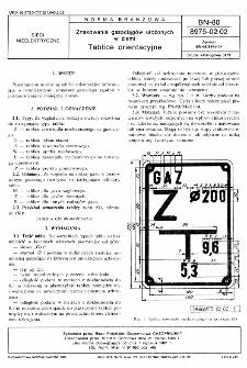Znakowanie gazociągów ułożonych w ziemi - Tablice orientacyjne BN-80/8975-02.02