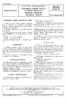 Wyposażenie wiertarek ręcznych o napędzie elektrycznym - Nasadki udarowe - Wymagania i badania BN-88/4545-14