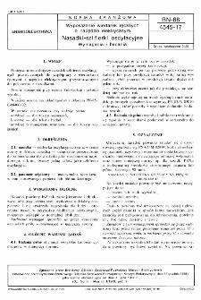Wyposażenie wiertarek ręcznych o napędzie elektrycznym - Nasadki szlifierki oscylacyjne - Wymagania i badania BN-88/4545-17