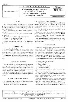 Wyposażenie wiertarek ręcznych o napędzie elektrycznym - Nasadki szlifierki kątowe - Wymagania i badania BN-88/4545-18