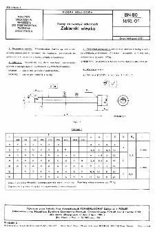 Formy do tworzyw sztucznych - Zabieraki wlewka BN-80/1692-01