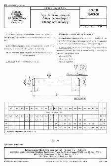 Formy do tworzyw sztucznych - Słupy prowadzące zespół wypychaczy BN-78/1693-01