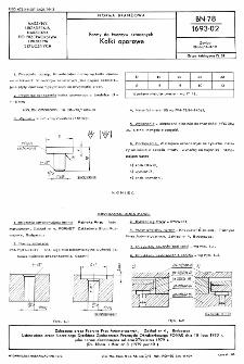 Formy do tworzyw sztucznych - Kołki oporowe BN-78/1693-02