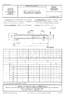 Formy do tworzyw sztucznych - Wypychacze tulejowe BN-81/1693-03