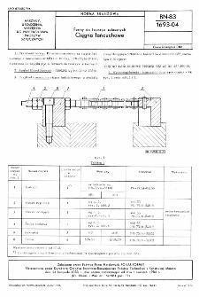 Formy do tworzyw sztucznych - Cięgna łańcuchowe BN-83/1693-04