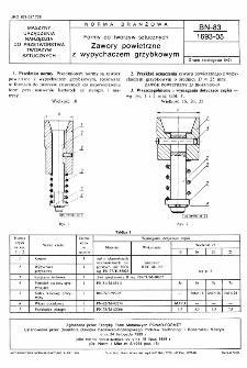 Formy do tworzyw sztucznych - Zawory powietrzne z wypychaczem grzybkowym BN-83/1693-05